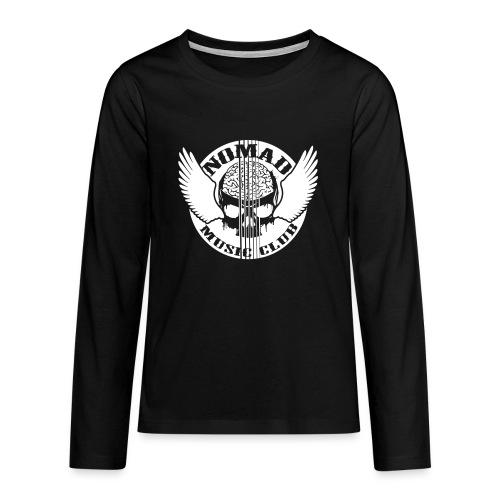 front print - Teenagers' Premium Longsleeve Shirt