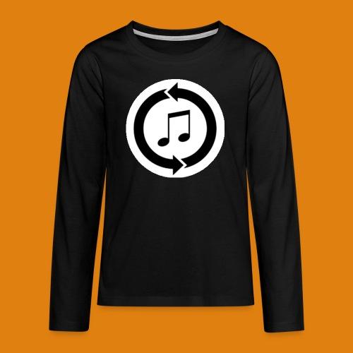music, renew music, music, t-shirt music - Teenagers' Premium Longsleeve Shirt