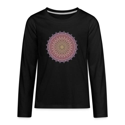 Mandala Sonnenuntergang - Teenager Premium Langarmshirt