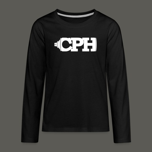 CPHMASS_LOGO_Can_CPH_SPRE - Teenager premium T-shirt med lange ærmer