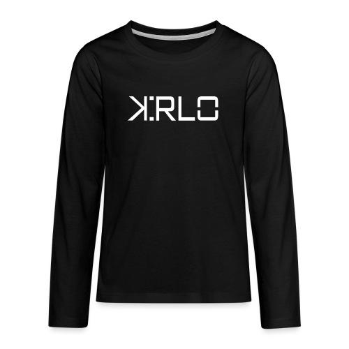 Kirlo Logo Blanco - Camiseta de manga larga premium adolescente