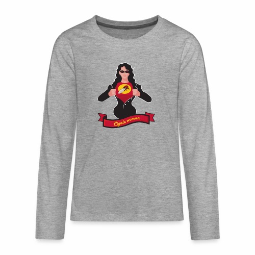 cigalewoman png - T-shirt manches longues Premium Ado