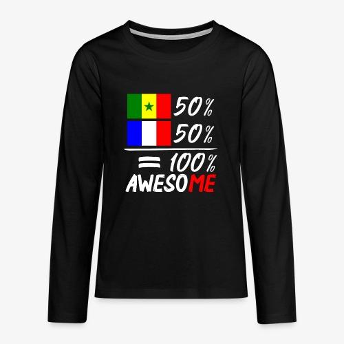 Moitié Français moitié Sénégalais - Teenager Premium Langarmshirt
