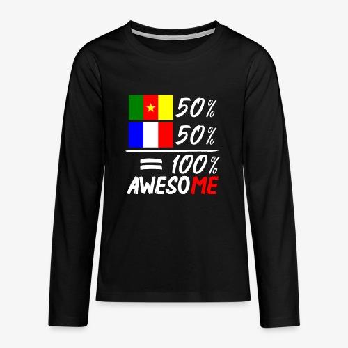Moitié Français moitié Camerounais - Teenager Premium Langarmshirt