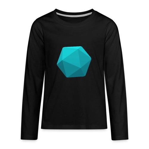 Blue d20 - D&D Dungeons and dragons dnd - Teinien premium pitkähihainen t-paita