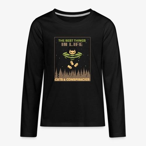 Cats and Conspiracies - Teinien premium pitkähihainen t-paita