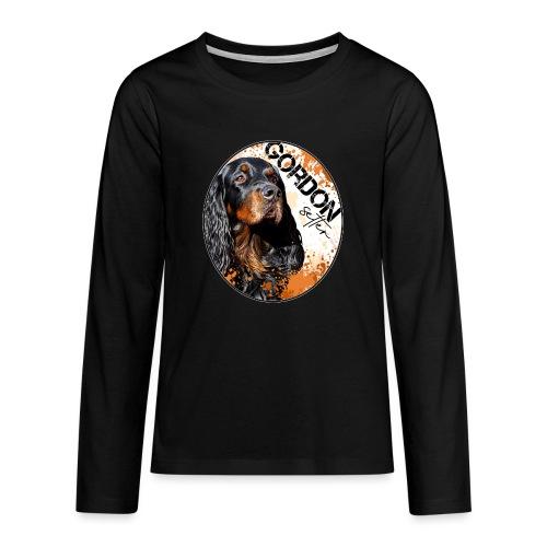 Gordon Setter Splash - Teinien premium pitkähihainen t-paita