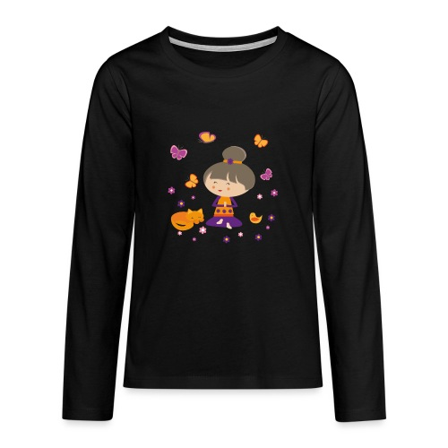 Happy Meitli - Yoga und Meditation - Teenager Premium Langarmshirt