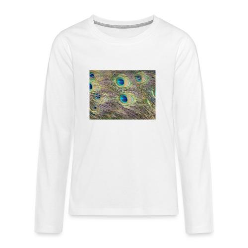 Peacock feathers - Teinien premium pitkähihainen t-paita