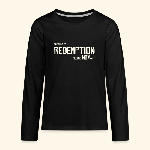 Wild West Game Text Design - Teenagers' Premium Longsleeve Shirt