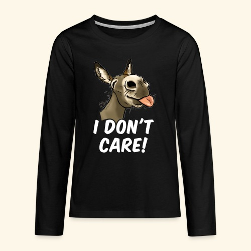 Ane I don't care! (texte blanc) - T-shirt manches longues Premium Ado