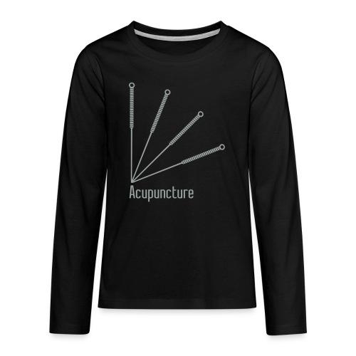 Acupuncture Eventail vect - T-shirt manches longues Premium Ado