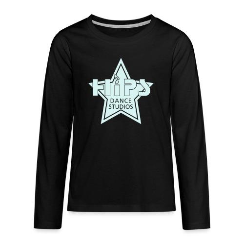 enkelt star - Teenager premium T-shirt med lange ærmer