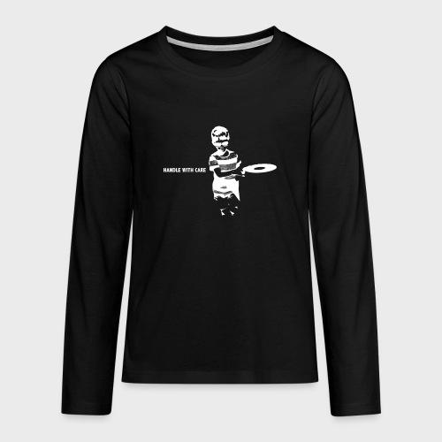 T-Record - Handle with care - Teenager Premium shirt met lange mouwen
