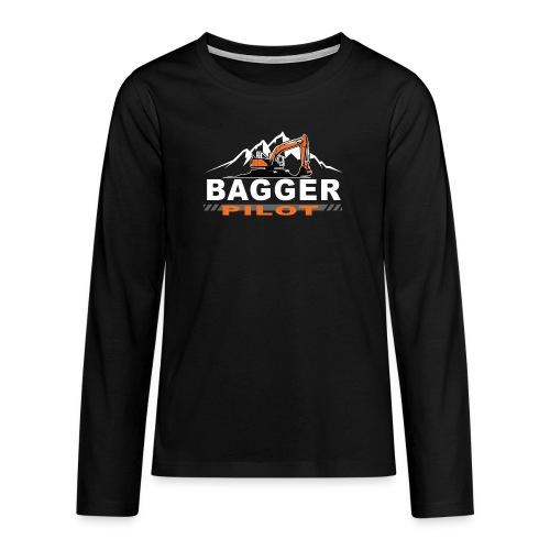 Bagger Pilot Baustelle Baumaschine - Teenager Premium Langarmshirt