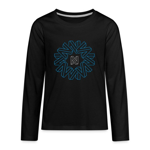 Neos Icon Pattern without URL, 2-color - Teenagers' Premium Longsleeve Shirt