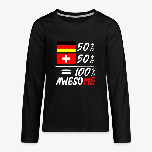 50% Deutsch 50% Schweiz - Teenager Premium Langarmshirt