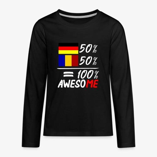 50% Deutsch 50% Rumänisch - Teenager Premium Langarmshirt