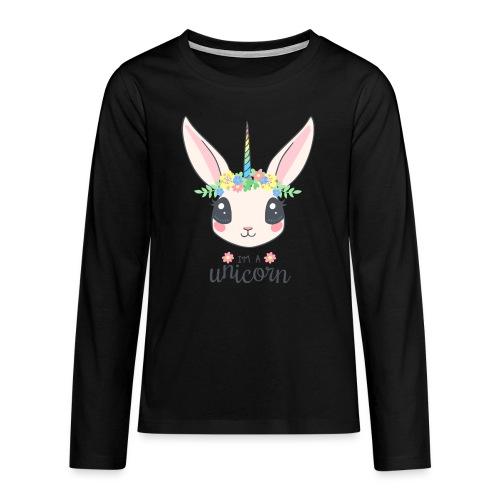 I am Unicorn - Teenager Premium Langarmshirt