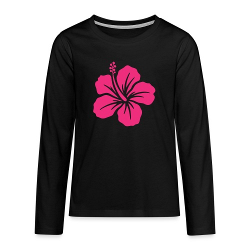 Camisetas, blusas, forros celulares de flor rosada - Camiseta de manga larga premium adolescente