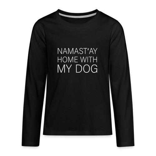 Lustiger Spruch Hundehalter Hundeliebhaber Hund - Teenager Premium Langarmshirt