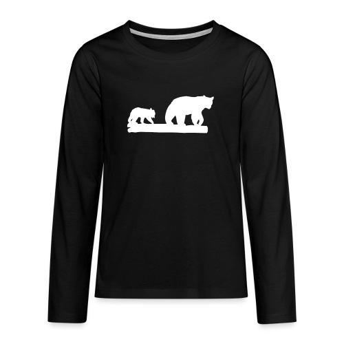 Bär Bären Grizzly Raubtier Wildnis Nordamerika - Teenager Premium Langarmshirt