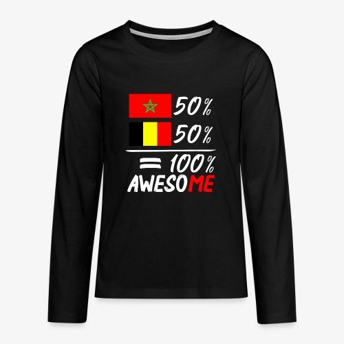 50%Marokko 50% Belgien - Teenager Premium Langarmshirt