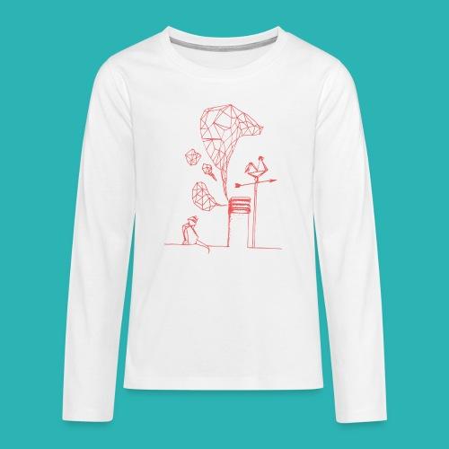 Carta_gatta_pink-png - Maglietta Premium a manica lunga per teenager