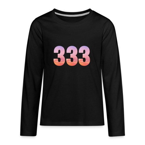 333 vous étes entouré de maitres ascensionnés - T-shirt manches longues Premium Ado