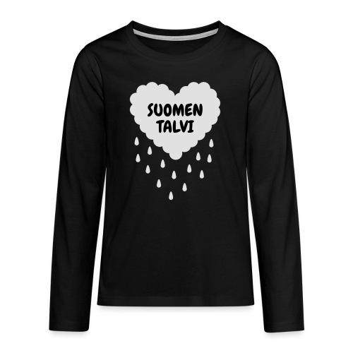 Suomen talvi - Teinien premium pitkähihainen t-paita