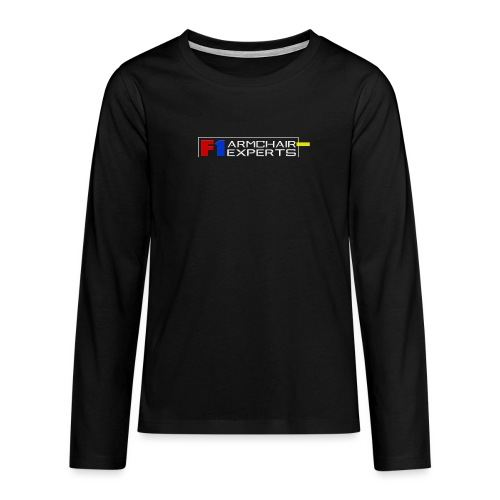 F1 Armchair Expert Official Logo WHT - Teenagers' Premium Longsleeve Shirt