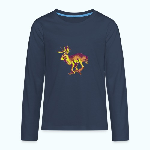 Fantasy Wolpertinger - Teenagers' Premium Longsleeve Shirt