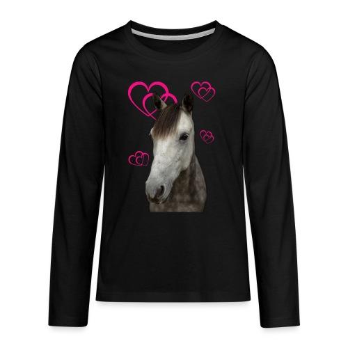 Hästälskare (Pilot) - Långärmad premium T-shirt tonåring
