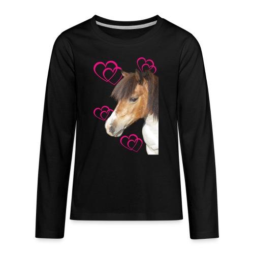 Hästälskare (Bella) - Långärmad premium T-shirt tonåring