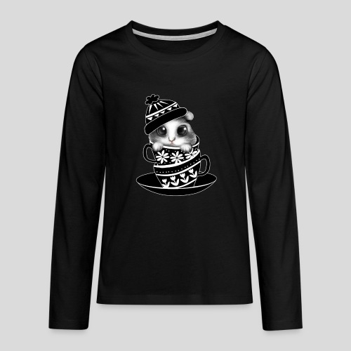 Schwarze Tiere - Teenager Premium Langarmshirt