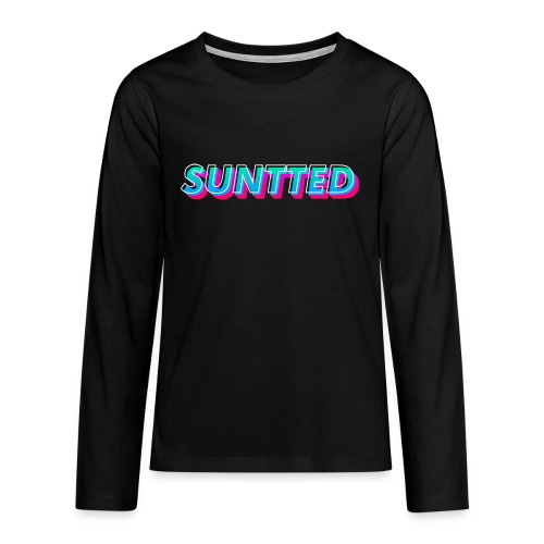 Suntted Typo Modern - T-shirt manches longues Premium Ado