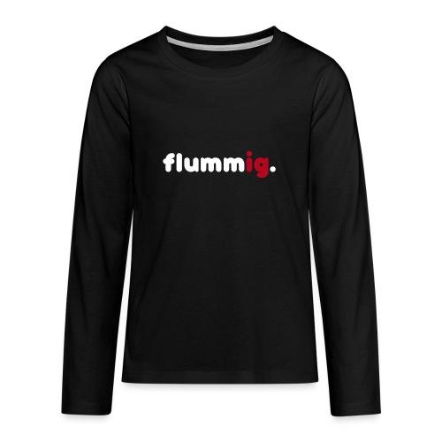 FLUMMIG. - Långärmad premium T-shirt tonåring