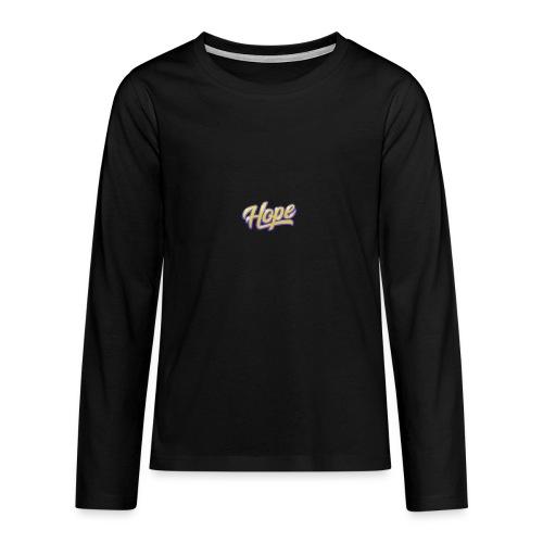 Hope lettering - Camiseta de manga larga premium adolescente
