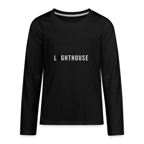 Lighthouse Logo - Teenager Premium Langarmshirt
