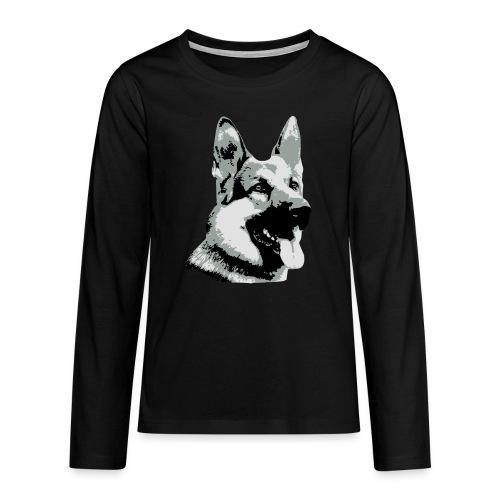 Dessin Chien Berger allemand 3 couleurs - T-shirt manches longues Premium Ado