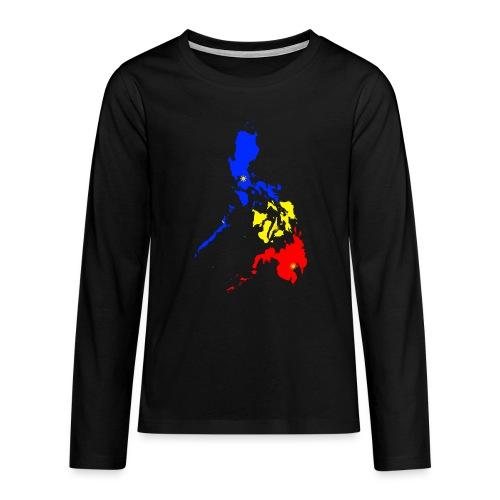 Philippinen Karte - Teenager Premium Langarmshirt
