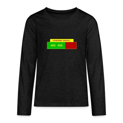 Loading Santa - Teinien premium pitkähihainen t-paita