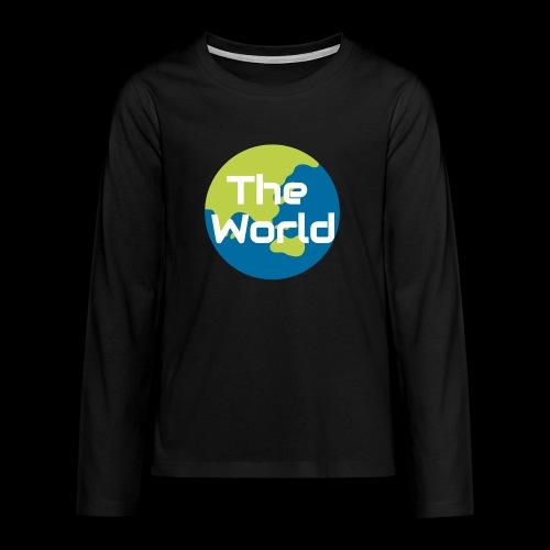 The World Earth - Teenager premium T-shirt med lange ærmer