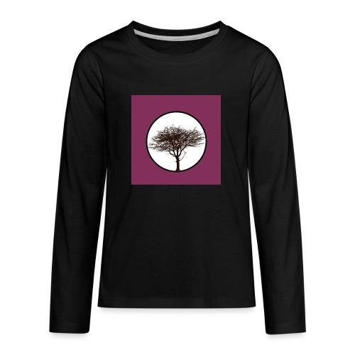 Baum in Kreis - Teenager Premium Langarmshirt
