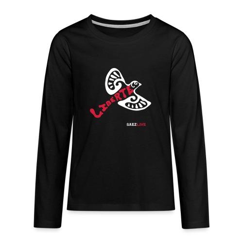 L'oiseau liberté (version light, par éoline) - T-shirt manches longues Premium Ado