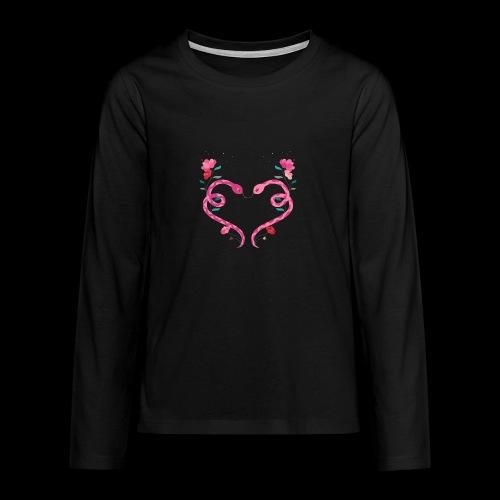 Coeur de serpents - T-shirt manches longues Premium Ado