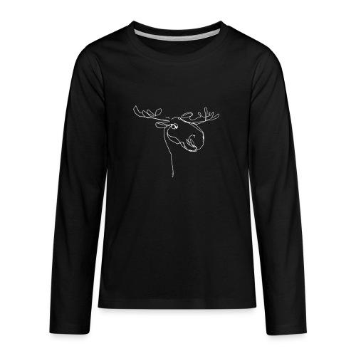 Elch weiss - Teenager Premium Langarmshirt