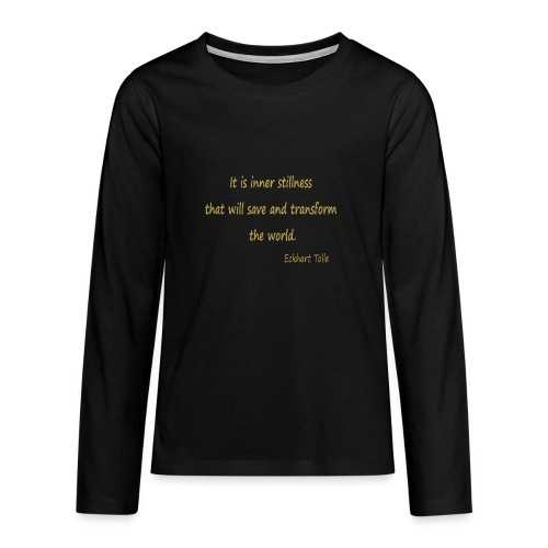 Inner Stillness - Teenagers' Premium Longsleeve Shirt