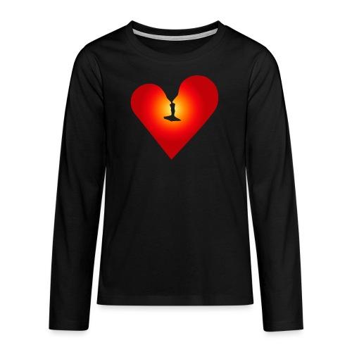 Ein Herz in Liebe - Teenager Premium Langarmshirt