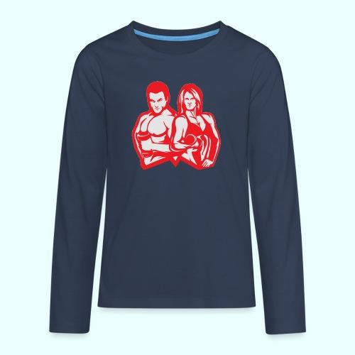 Man & woman NLB - Teinien premium pitkähihainen t-paita